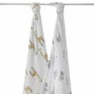aden + anais Jungle Jam Swaddle Wrap 2-Pack in Monkey & Giraffe
