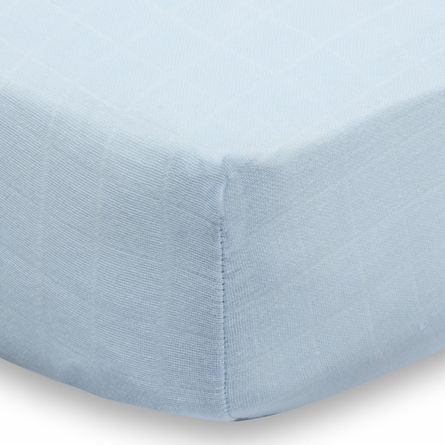 aden + anais Liam the Brave Solid Blue Crib Sheet