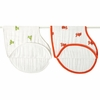 aden + anais Mod About Baby Burpy Bib 2-Pack in Frog & Fish