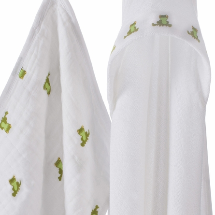 aden + anais Mod About Baby Frog Hooded Towel & Washcloth Set