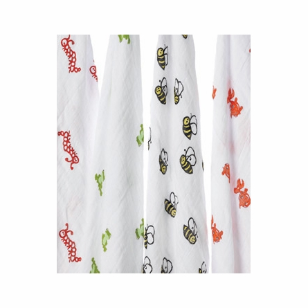 aden + anais Mod About Baby Swaddle Wrap 4-Pack