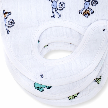 aden + anais Nibble Muslin Snap Bib 3-Pack - Jungle Jam