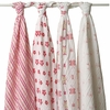 aden + anais Princess Posie Swaddle Wrap 4-Pack