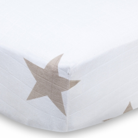 aden + anais Super Star Scout Fawn Star Crib Sheet