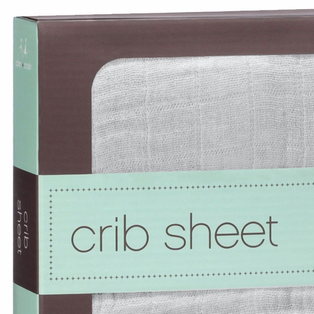 aden + anais Super Star Scout Solid Gray Crib Sheet