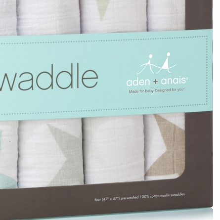 aden + anais Super Star Scout Swaddle Wrap 4-Pack