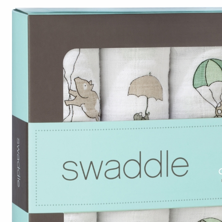 aden + anais Up Up and Away Swaddle Wrap 4-Pack