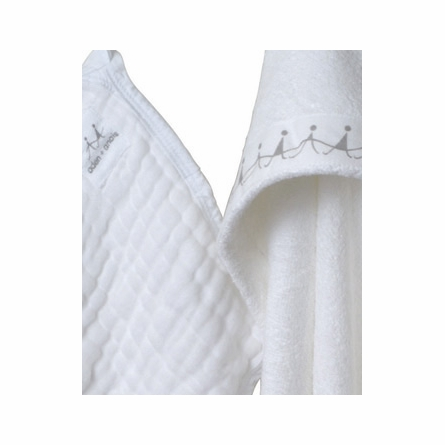 aden + anais Water Baby Hooded Towel & Washcloth Set in White