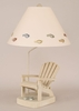Adirondack Chair Lamp with Flip Flops in Weathered Paratan and Sage