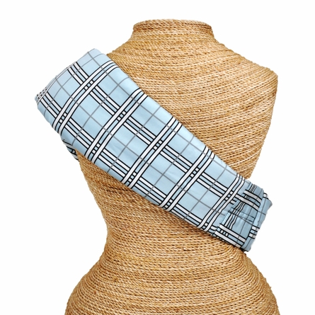 Adjustable Baby Sling in Blue Plaid