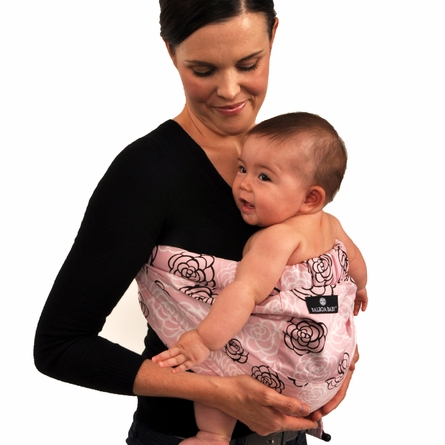 Adjustable Baby Sling in Pink Camellia