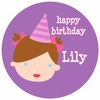 Adorable Me Birthday Girl Personalized Melamine Plate