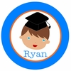 Adorable Me Graduation Boy Personalized Melamine Plate