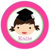 Adorable Me Graduation Girl Personalized Melamine Plate