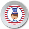 Adorable Me July 4th Boy Personalized Melamine Bowl