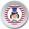 Adorable Me July 4th Girl Personalized Melamine Bowl