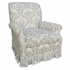 Adult Club Glider Rocker - Marquee White and Silver