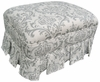 Adult Club Gliding Ottoman - Marquee White and Silver