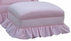 Adult Club Stationary Ottoman - Classic Velvet Pink
