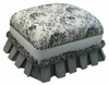 Club Stationary Ottoman - Toile Black