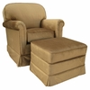 Adult Continental Glider Rocker - Aspen Bark