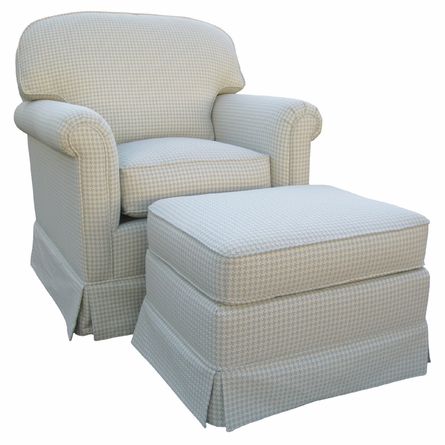 Adult Continental Glider Rocker - Lexington Sky