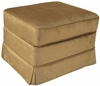 Adult Continental Stationary Ottoman - Aspen Bark