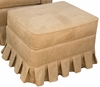 Adult Continental Stationary Ottoman - Faux Suede Camel
