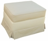 Adult Continental Stationary Ottoman - Monaco Vanilla