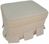 Adult Continental Stationary Ottoman - Nantucket Ecru