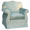 Adult Empire Glider Rocker - Aspen Seafoam with Cream Piping