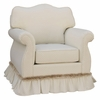 Empire Glider Rocker - Monaco Vanilla with Fringe