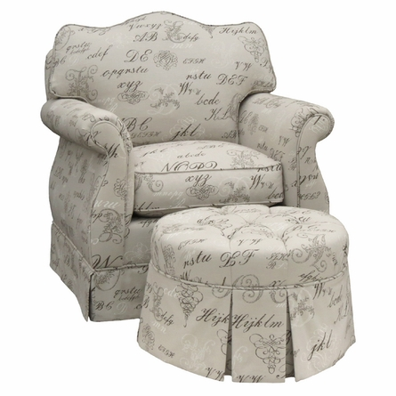 Adult Empire Glider Rocker - Provence Script