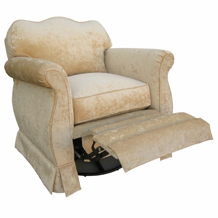 Adult Empire Recliner - Versailles Velvet Taupe