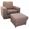 Adult Manhattan Glider Rocker - Faux Suede Mocha