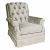 Adult Orleans Glider Rocker - Aspen Silver with Cream Piping