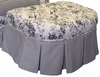 Park Ave Stationary Ottoman - Toile Black