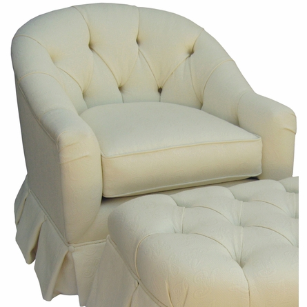 Park Avenue Glider Rocker - Bordeaux Cream