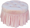 Adult Park Avenue Round Stationary Ottoman - Aspen Pink