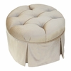 Park Avenue Round Stationary Ottoman - Aspen Taupe