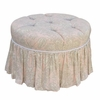 Park Avenue Round Stationary Ottoman - Bella
