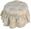 Adult Park Avenue Round Stationary Ottoman - Firenze