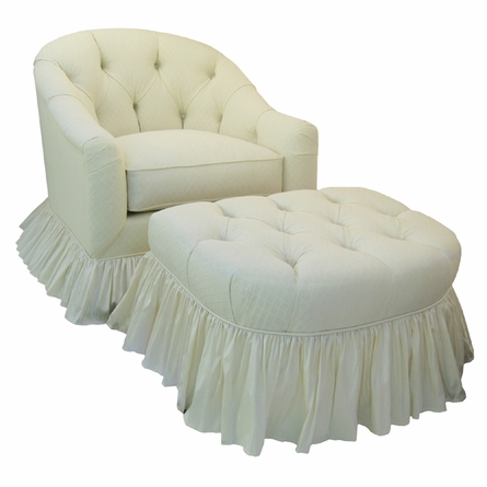 Adult Park Avenue Round Stationary Ottoman - Tiara