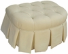 Park Avenue Stationary Ottoman - Bordeaux Cream