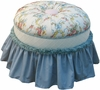 Adult Princess Stationary Ottoman - Blossoms & Bows