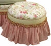 Adult Princess Stationary Ottoman - English Bouquet