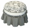 Princess Stationary Ottoman - Toile Black