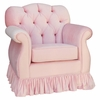 Adult Tufted Empire Glider Rocker - Aspen Pink