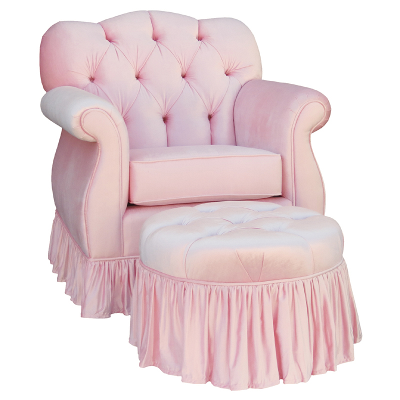 Tufted Empire Glider Rocker Aspen Pink By Angel Song