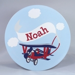 Adventure Plane Personalized 3-Piece Dinnerware Set